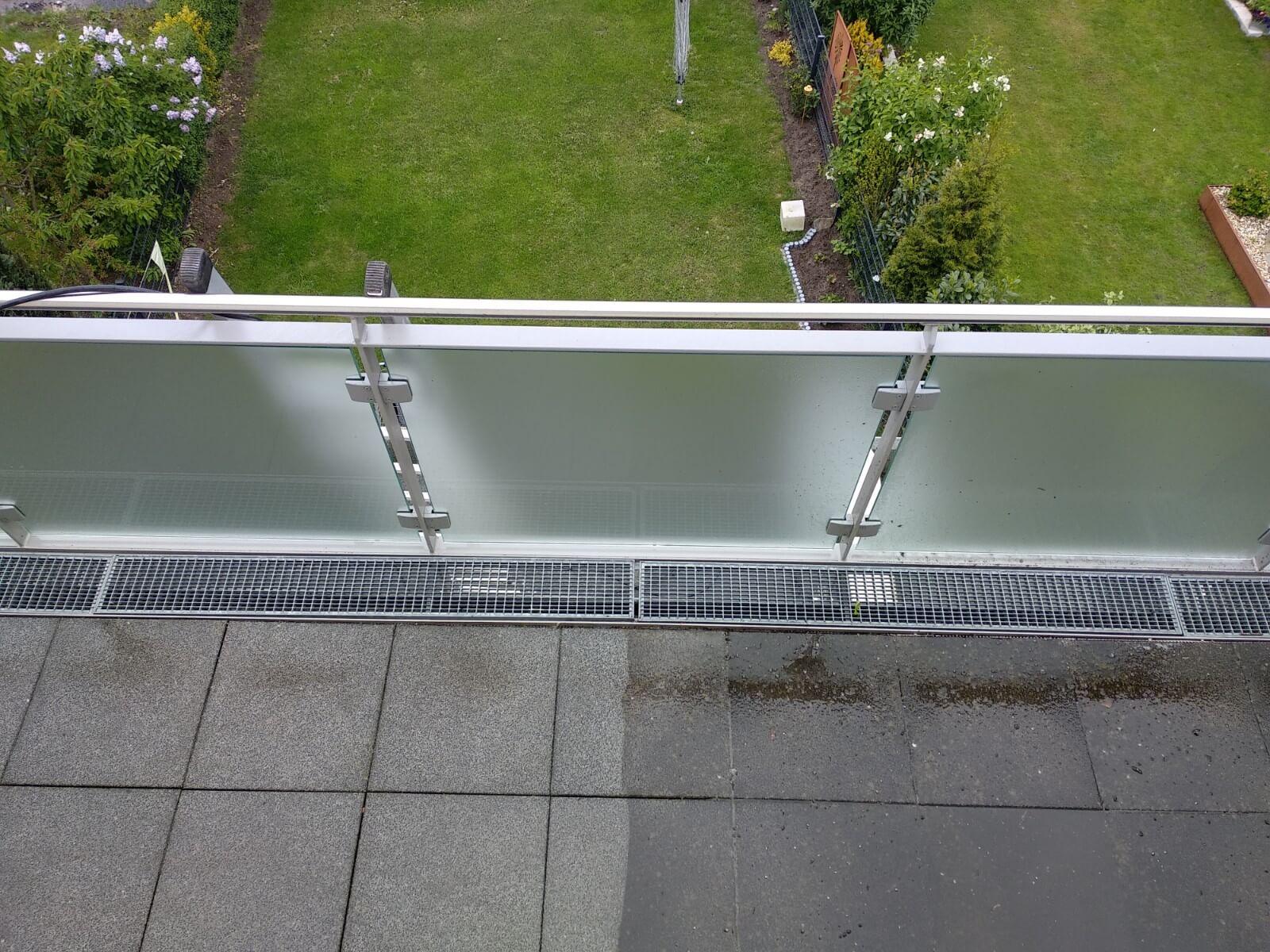 Steinreinigung auf einer Hohen Terrasse in Dortmund