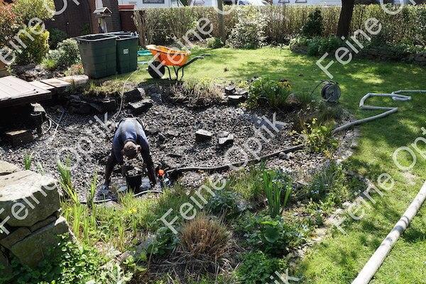 Gartenteichreinigung Schlammentfernung Teichabsuagung Dortmund
